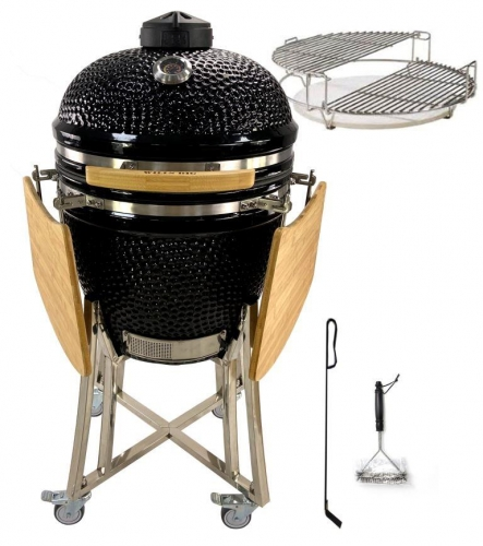 "WILLS BIG Kamado bbq 21"" - inkl. Divide & Conquer Grillset"